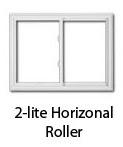 two lite horizontal roller